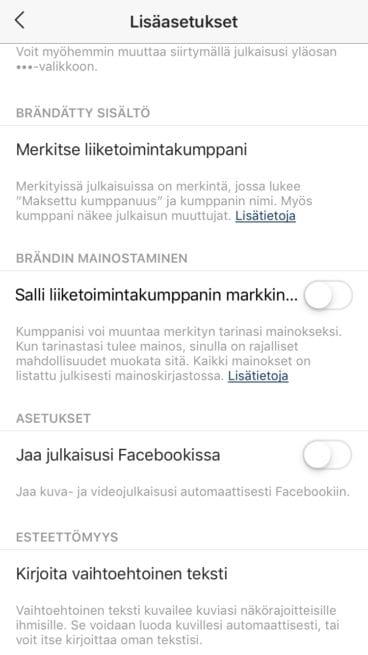Vaihtoehtoinen teksti ohje - Instagram SEO